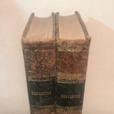 Libros antiguos: TOMO 1 Y 2 DE LA NOVELA DE CERVANTES 1859. Lote 227942095