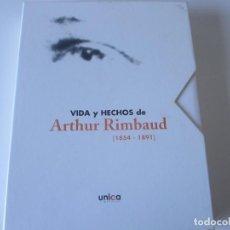Libros antiguos: VIDA Y HECHOS DE ARTHUR RIMBAUD. 1854-1891. POESÍA. UNICA LIMPIEZAS. Lote 227955130