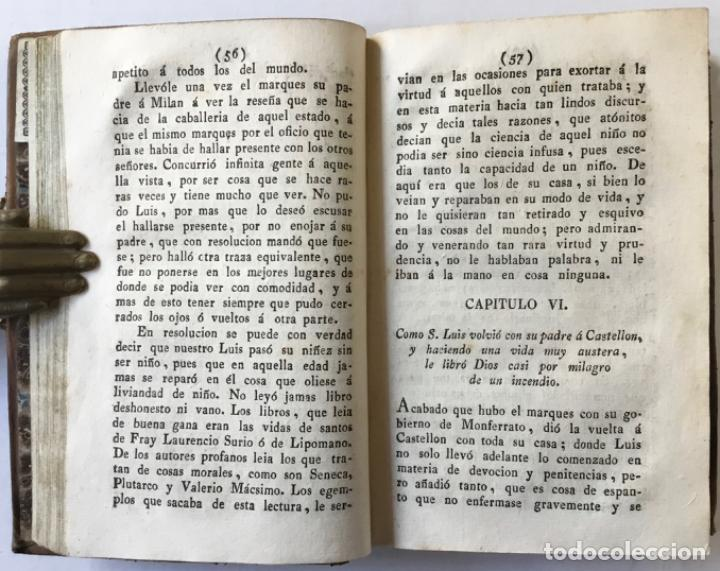 Libros antiguos: VIDA DEL BIENAVENTURADO SAN LUIS GONZAGA DE LA COMPAÑÍA DE JESUS, Hijo primogénito de D. Fernando Go - Foto 4 - 227963395
