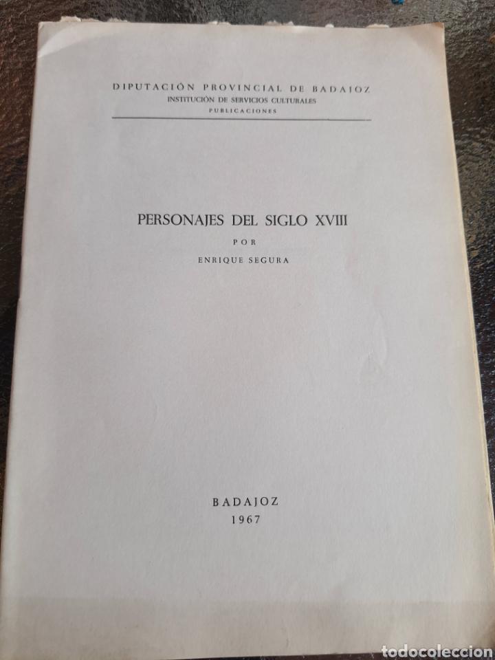 PERSONAJES DE SIGLO XIX .POR ..ENRIQUE SEGURA OTOÑO BADAJOZ 1967 .SOLO 20 EJEMPLARES (Libros Antiguos, Raros y Curiosos - Biografías )