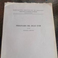 Libros antiguos: PERSONAJES DE SIGLO XIX .POR ..ENRIQUE SEGURA OTOÑO BADAJOZ 1967 .SOLO 20 EJEMPLARES. Lote 227978925