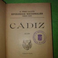 Libros antiguos: LIBRO EPISODIOS NACIONALES DE BENITO PÉREZ GALDÓS DEL AÑO 1936 (337PG ) 1° SERIE. Lote 228365705
