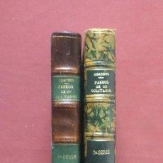 Libros antiguos: PASEOS DE UN SOLITARIO - PRIMERA Y SEGUNDA SERIE - 1923 - CARLOS M. CORTEZO - FIRMADO POR EL AUTOR.. Lote 233076425