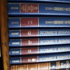 Libros antiguos: DICCIONARIO DE BIOGRAFÍAS OCEANO 4 TOMOS + DICICONARIO SINONIMOS Y ANTONIMOS 2 TOMOS. Lote 235111015