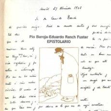 Libros antiguos: CARTAS ENTRE PÍO BAROJA Y EDUARDO RANCH. Lote 235356535
