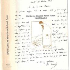 Libros antiguos: UN EPISTOLARIO.DE PÍO BAROJA. Lote 236005375
