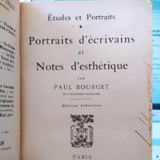 Libros antiguos: ÉTUDES ET PORTRAITS PAUL BOURGET EDITORIAL: PLON, 1905. Lote 237857445