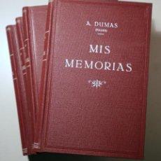 Libros antiguos: DUMAS, ALEJANDRO (PADRE) - MIS MEMORIAS (4 VOL. - COMPLETO) - BARCELONA C. 1890-1900 - MUY ILUSTRADO. Lote 241691120