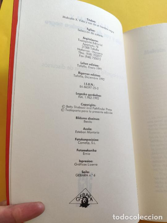 Libros antiguos: MALCOLM X * VIDA Y VOZ DE UN HOMBRE NEGRO * AUTOBIOGRAFIA Y SELECCION DE DISCURSOS - Foto 2 - 245285655
