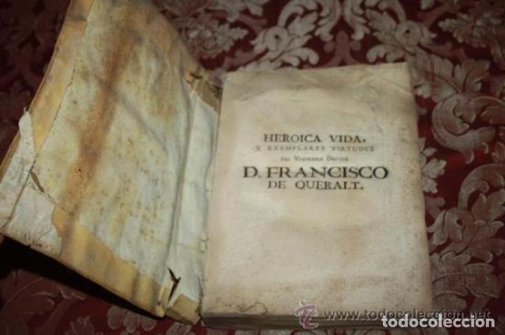 Libros antiguos: HEROICA VIDA Y EXEMPLARES DE FRANCISCO DE QUERALT. MIGUEL CONILL. 1736. - Foto 3 - 245768825