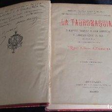 Libros antiguos: LOBROS LA TAUROMAQUIA POR RAFAEL GUERRA GUERRITA VOL 1 Y 2. Lote 245773615