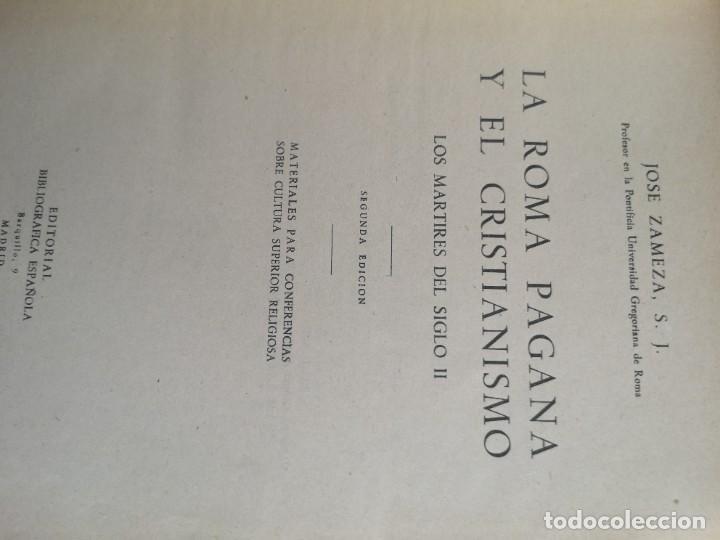 Libros antiguos: La Roma pagana y el cristianismo - Foto 4 - 247260995