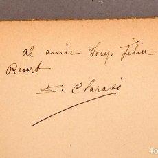 Libros antiguos: ENRIC CLARASÒ - NOTES VISCUDES - DEDICATÒRIA AUTÒGRAFA - 1931. Lote 247469545