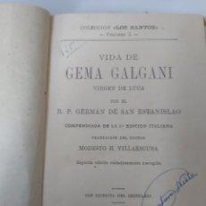 Libros antiguos: VIDA DE GEMA GAGANI. Lote 252111125