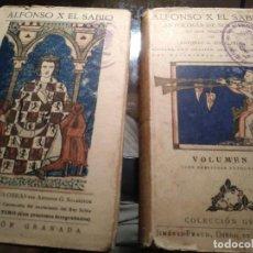 Livros antigos: ALFONSO X, EL SABIO. VOLÚMENES I Y II 1922. Lote 262378540