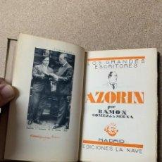 Libros antiguos: AZORÍN POR RAMÓN GÓMEZ DE LA SERNA - LA NAVE - 2ª EDICIÓN 1930. Lote 262957450