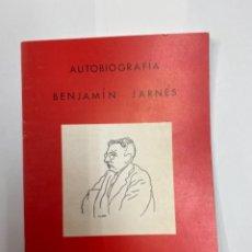 Libros antiguos: BENJAMÍN JARNÉS, AUTOBIOGRAFÍA. INSTITUCIÓN FERNANDO EL CATÓLICO. Lote 263143565