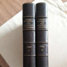 Libri antichi: EXIMENO, ANTONIO. DON LAZARILLO VIZCARDI. SOCIEDAD DE BIBLIÓFILOS 1872. DOS TOMOS. Lote 266912759