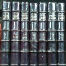 Libros antiguos: 1936 - CONSTANTINO SUÁREZ - ESCRITORES Y ARTISTAS ASTURIANOS. ÍNDICE BIO BIBLIOGRÁFICO. 7 TOMOS. Lote 267821599