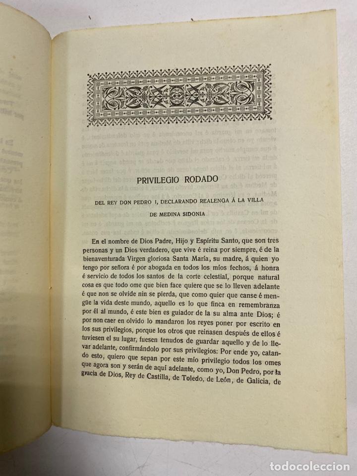 Libros antiguos: AÑADIDURA A NOTAS BIBLIOGRAFICAS DE MEDINA SIDONIA. DOCTOR THEBUSSEM. MADRID, 1910. PAGS: 69 - Foto 6 - 269356318