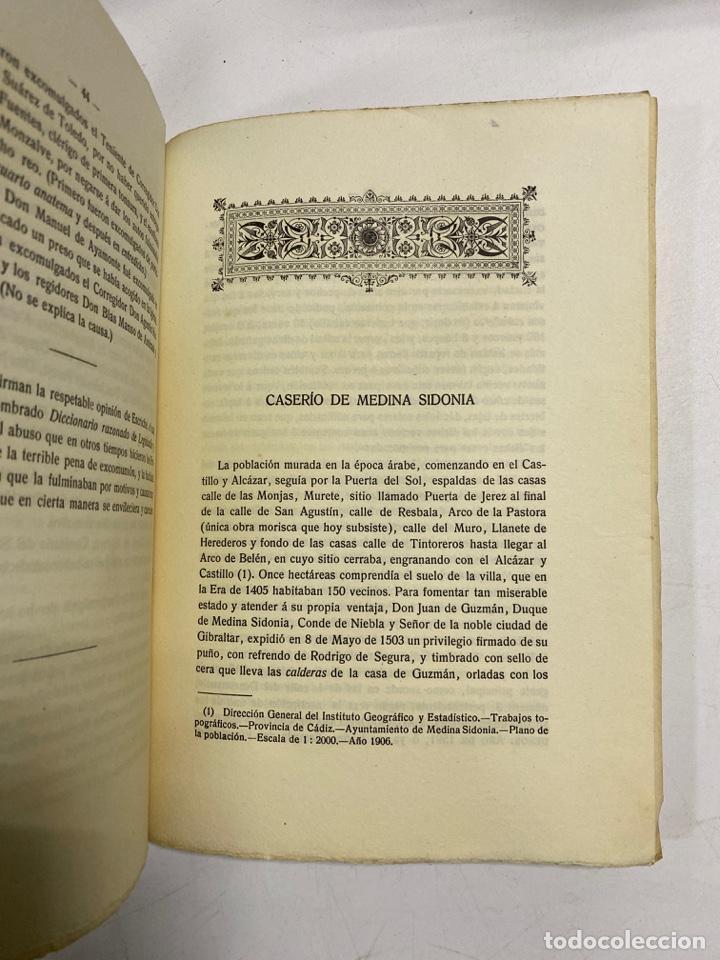 Libros antiguos: AÑADIDURA A NOTAS BIBLIOGRAFICAS DE MEDINA SIDONIA. DOCTOR THEBUSSEM. MADRID, 1910. PAGS: 69 - Foto 8 - 269356318