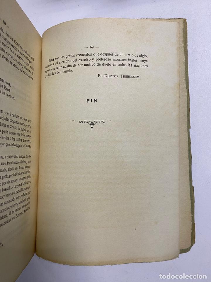 Libros antiguos: AÑADIDURA A NOTAS BIBLIOGRAFICAS DE MEDINA SIDONIA. DOCTOR THEBUSSEM. MADRID, 1910. PAGS: 69 - Foto 9 - 269356318