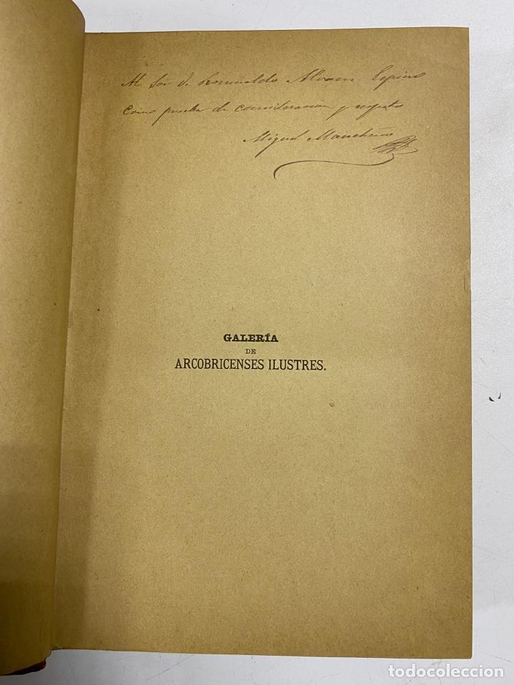 Libros antiguos: GALERIA DE ARCOBRICENSES ILUSTRES. MIGUEL MANCHEÑO Y OLIVARES. ARCOS DE LA FRA., 1892. PAGS: 592 - Foto 4 - 269358908