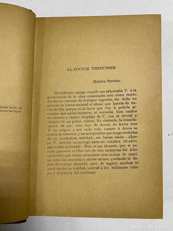 Libros antiguos: GALERIA DE ARCOBRICENSES ILUSTRES. MIGUEL MANCHEÑO Y OLIVARES. ARCOS DE LA FRA., 1892. PAGS: 592 - Foto 6 - 269358908