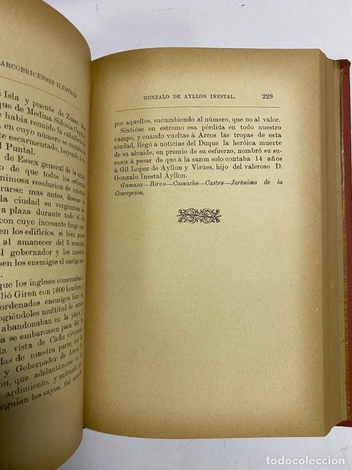 Libros antiguos: GALERIA DE ARCOBRICENSES ILUSTRES. MIGUEL MANCHEÑO Y OLIVARES. ARCOS DE LA FRA., 1892. PAGS: 592 - Foto 9 - 269358908