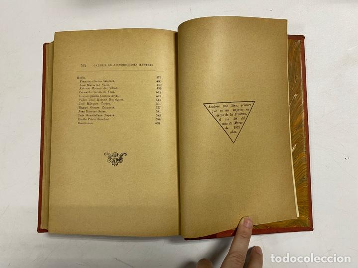 Libros antiguos: GALERIA DE ARCOBRICENSES ILUSTRES. MIGUEL MANCHEÑO Y OLIVARES. ARCOS DE LA FRA., 1892. PAGS: 592 - Foto 15 - 269358908