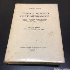 Livres anciens: LIBROS Y AUTORES CONTEMPORÁNEOS POR CESAR BARJA, AÑO 1935 MADRID.. Lote 275112878