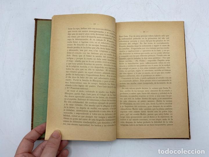 Libros antiguos: VIDA DEL JOVEN FRANCISCO ROMERO Y FERNANDEZ DE CORDOBA. HNO. RAFAEL DE LOS REYES. JEREZ, 1905 - Foto 5 - 276254298