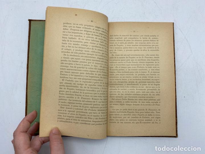 Libros antiguos: VIDA DEL JOVEN FRANCISCO ROMERO Y FERNANDEZ DE CORDOBA. HNO. RAFAEL DE LOS REYES. JEREZ, 1905 - Foto 6 - 276254298