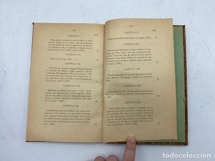 Libros antiguos: VIDA DEL JOVEN FRANCISCO ROMERO Y FERNANDEZ DE CORDOBA. HNO. RAFAEL DE LOS REYES. JEREZ, 1905 - Foto 10 - 276254298