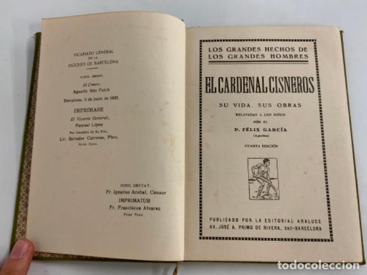 Libros antiguos: EL CARDENAL CISNEROS - LOS GRANDES HOMBRES - P. FÉLIZ GRACÍA - Foto 2 - 277716278