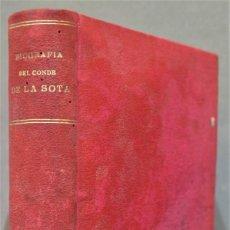Libros antiguos: 1878.- APUNTES PARA ESCRIBIR LA BIOGRAFIA DE DON PIO DE LA SOTA Y LASTRA. Lote 278368363