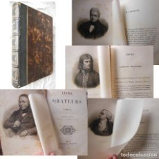 Libros antiguos: LIVRE DES ORATEURS. 1842 TIMON. Lote 289463413