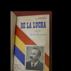 Libros antiguos: DE LA LUCHA. PÁGINAS. A. LERROUX. Lote 289591478