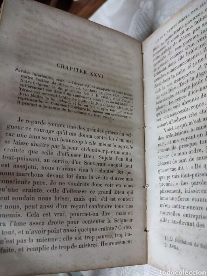 Libros antiguos: Vie de Sainte Terese Ecrit par elle meme 1880 - Foto 8 - 289616608