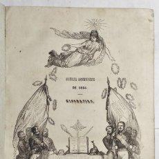 Libros antiguos: ASAMBLEA CONSTITUYENTE DE 1854. BIOGRAFÍAS POR UNA SOCIEDAD LITERARIA. 1854. MADRID. 2 TOMOS JUNTOS.. Lote 295564338