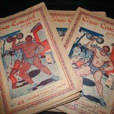 Libros antiguos: LOTE NOVELAS JULIO VERNE. GRABADOS. EDITORIAL SAENZ DE JUBERA.. Lote 26419410