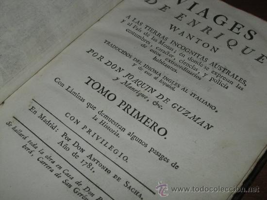 Libros antiguos: Viages de Enrique Wanton, 1781 y 1778. 3 Tomos. Contiene 11 grabados - Foto 9 - 29554068