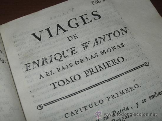 Libros antiguos: Viages de Enrique Wanton, 1781 y 1778. 3 Tomos. Contiene 11 grabados - Foto 12 - 29554068
