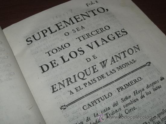 Libros antiguos: Viages de Enrique Wanton, 1781 y 1778. 3 Tomos. Contiene 11 grabados - Foto 38 - 29554068