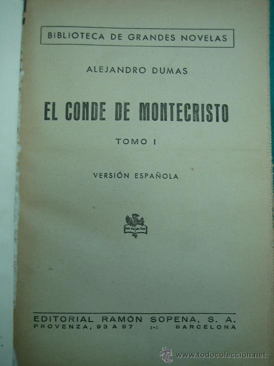 Libros antiguos: El Conde de Montecristo - Foto 6 - 30198002
