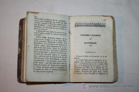 Libros antiguos: 0903 - HISTORIA SAGRADA PROVERBIOS Ó PARABOLAS FÁBULAS DE FELIX MARIA DE SAMANIEGO. - Foto 5 - 91795304