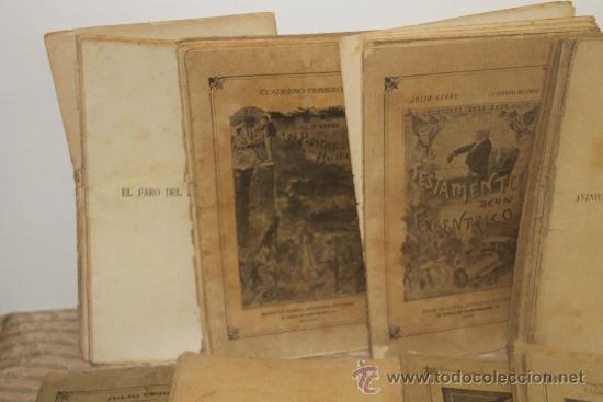 Libros antiguos: 1775- BONITO LOTE DE 14 NOVELAS DE JULIO VERNE S/F. EDIT. SAENZ DE JUBERA. MADRID. - Foto 2 - 34303702