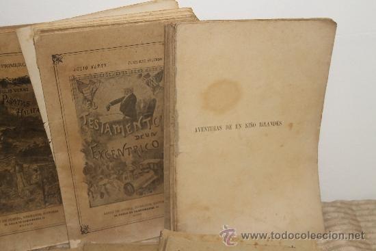 Libros antiguos: 1775- BONITO LOTE DE 14 NOVELAS DE JULIO VERNE S/F. EDIT. SAENZ DE JUBERA. MADRID. - Foto 3 - 34303702