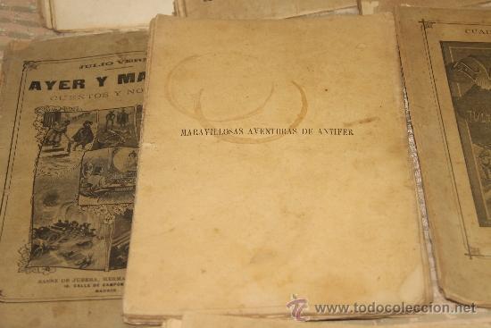 Libros antiguos: 1775- BONITO LOTE DE 14 NOVELAS DE JULIO VERNE S/F. EDIT. SAENZ DE JUBERA. MADRID. - Foto 4 - 34303702