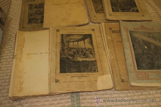 Libros antiguos: 1775- BONITO LOTE DE 14 NOVELAS DE JULIO VERNE S/F. EDIT. SAENZ DE JUBERA. MADRID. - Foto 7 - 34303702